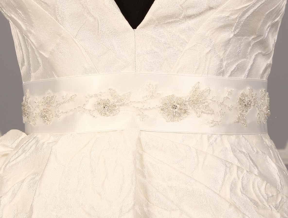 B515 Bridal White Embellished Sash