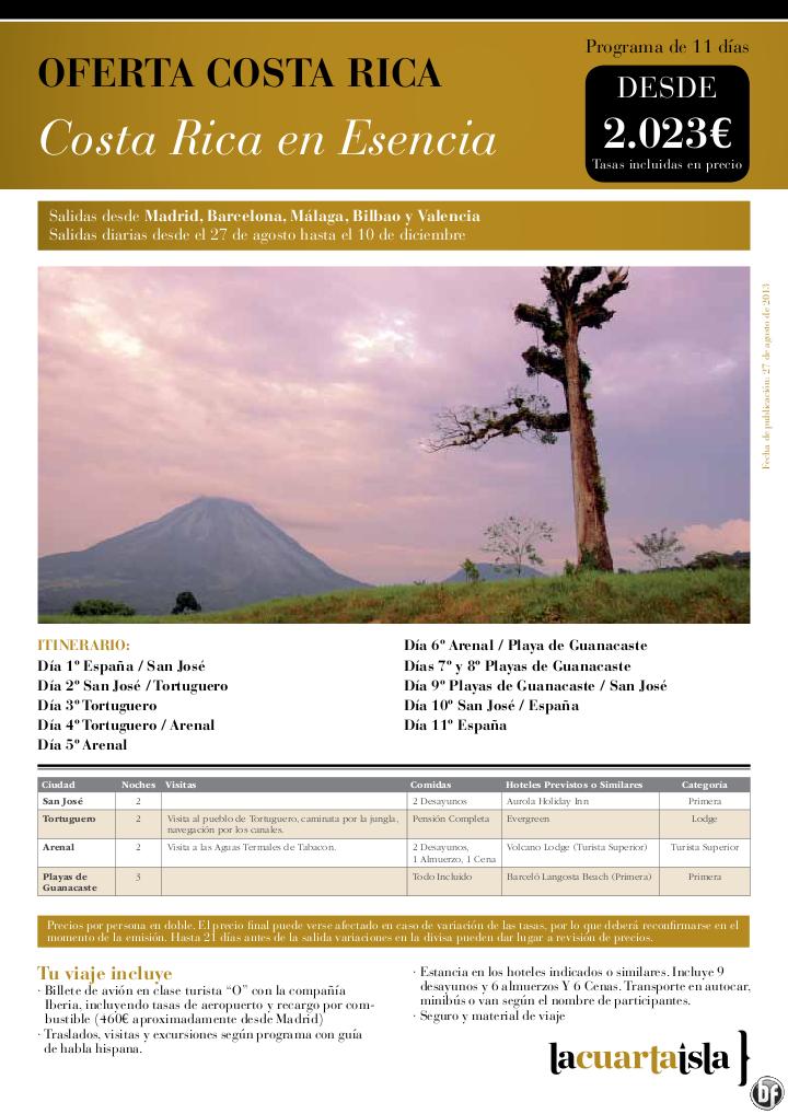 Costa Rica en Esencia. 11 días desde 2023 € tax incluídas. Salidas del 27 de Ago al 10 de Dic - http://zocotours.com/costa-rica-en-esencia-11-dias-desde-2023-e-tax-incluidas-salidas-del-27-de-ago-al-10-de-dic/