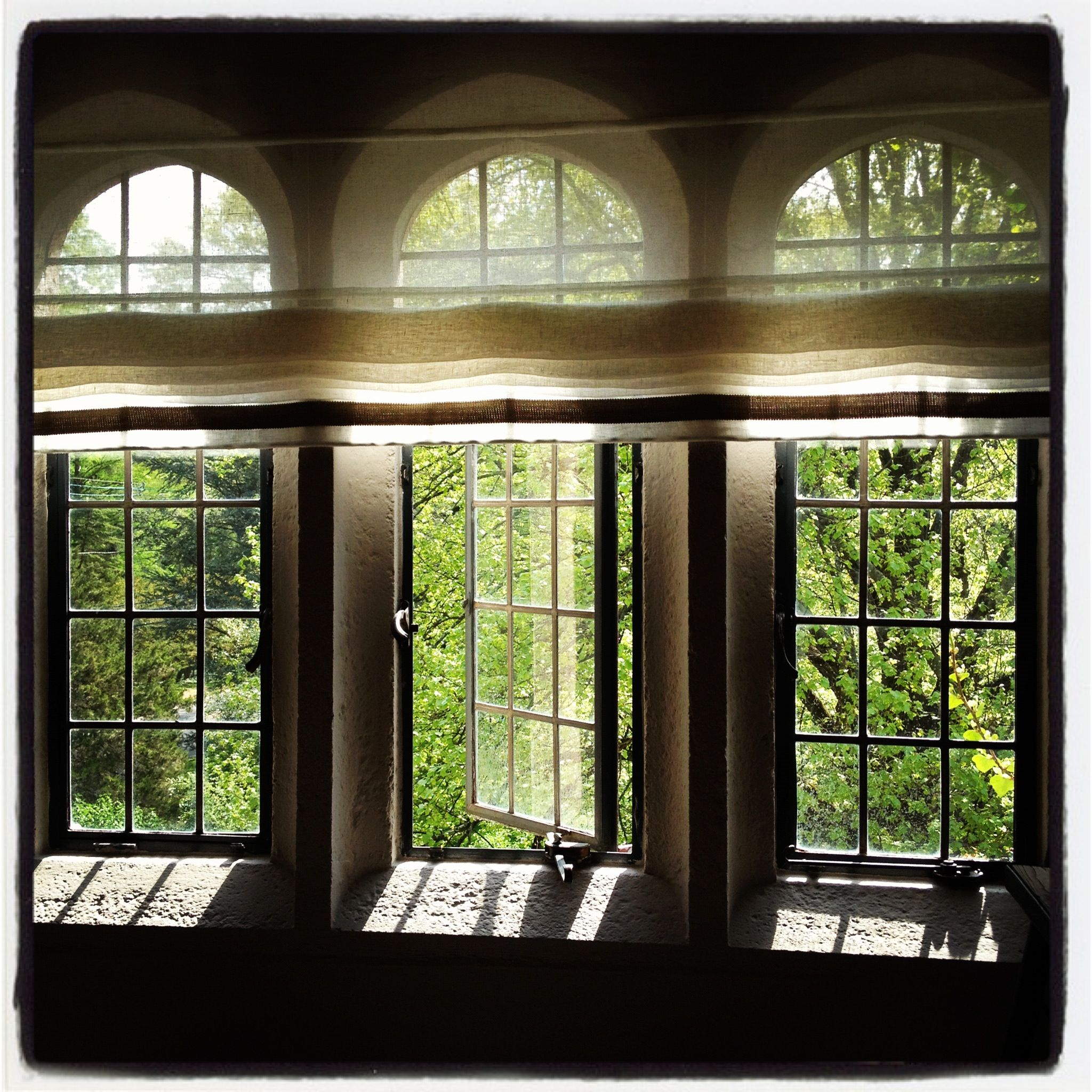 the homes windows were gorgeous as is this window treatment affording a touch of privacy by Emma Korzeniowski.