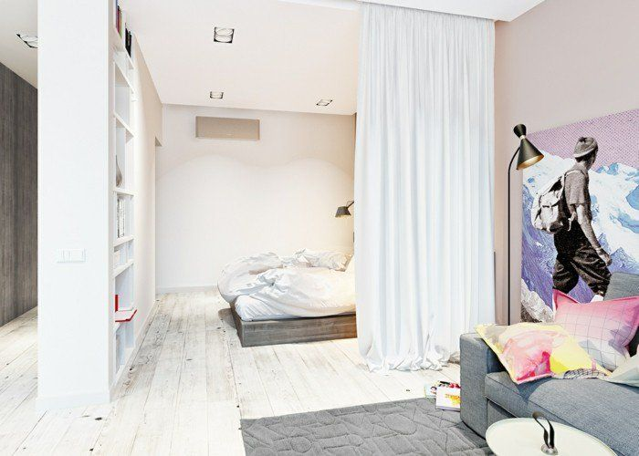 la s paration de pi ce amovible optez pour un rideau salon pinterest s paration de pi ce. Black Bedroom Furniture Sets. Home Design Ideas