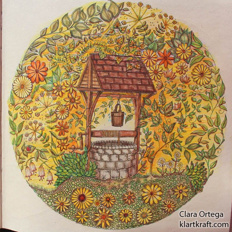 Secret Garden Johanna Basford Clara Ortega Pozo Jardines Secretos Jardín Secreto Libro De Colores