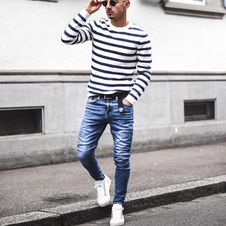 b23af2da28ad 25 Outfits to Wear with White Sneakers for Men