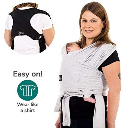elastisches Tragetuch f/ür Fr/üh und Neugeborene Kleinkinder Babytragetuch Kindertragetuch Babybauchtrage Sling Tragetuch f/ür Baby