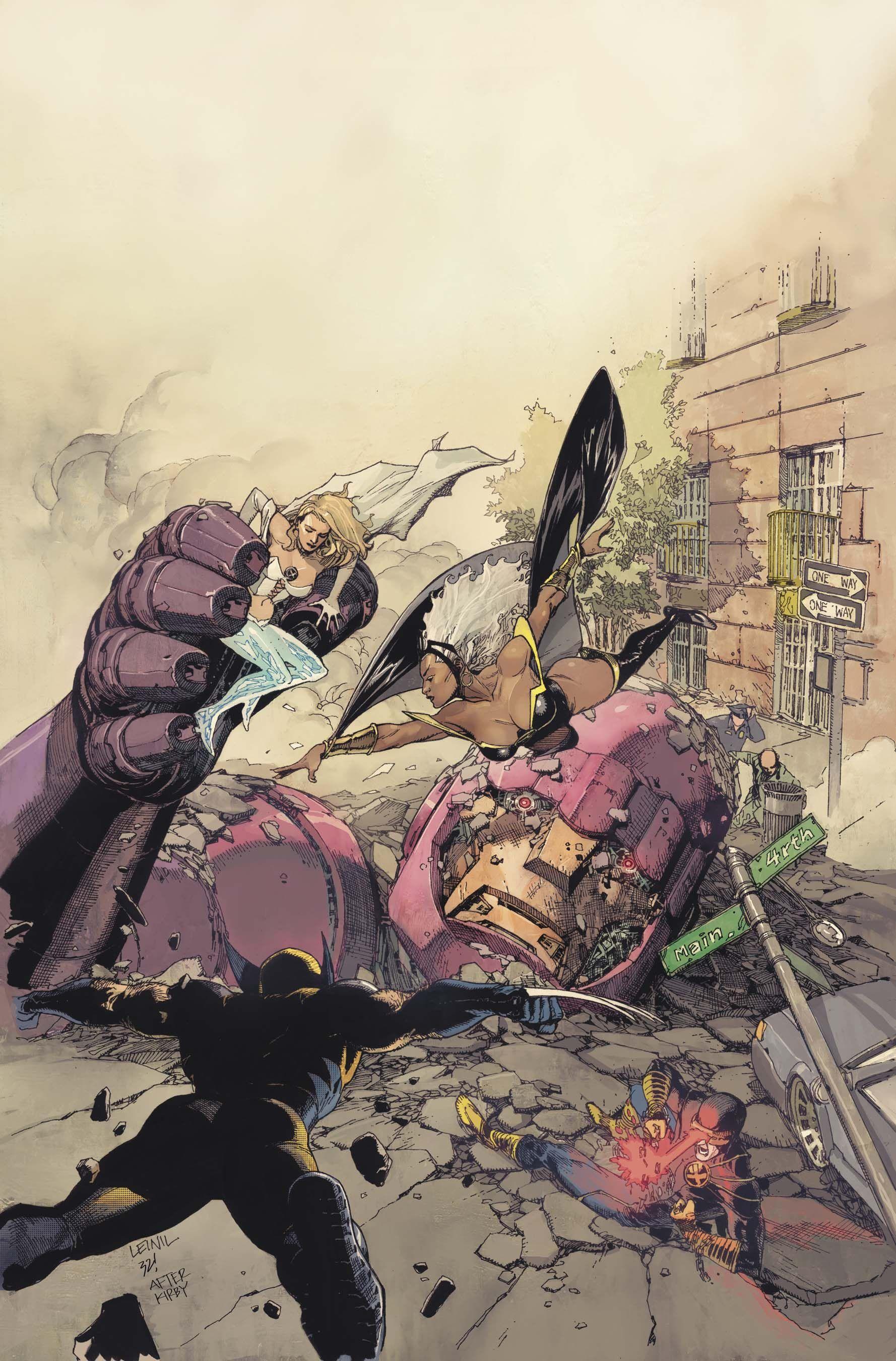 X-Men Vs Sentinel by Leinil Francis Yu (after Jack Kirby)