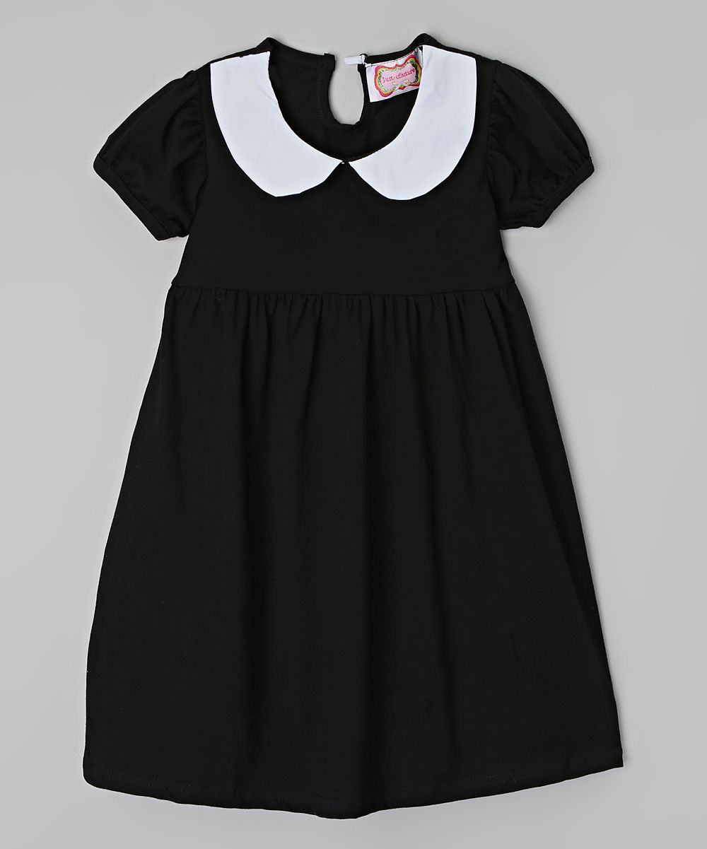 Just Couture Black White Peter Pan Collar Dress Toddler Girls Toddler Girl Dresses Toddler Dress Black Collared Dress [ 1201 x 1000 Pixel ]