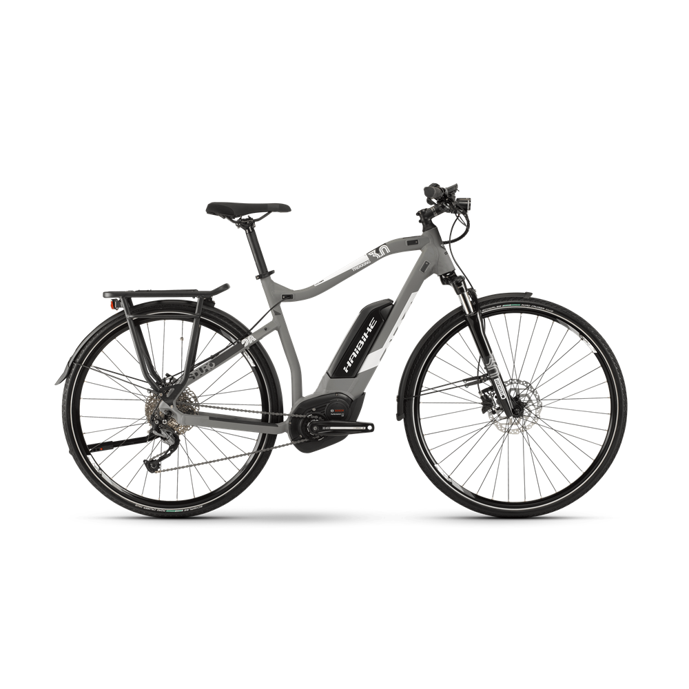 2019 Haibike Sduro Trekking 3 0 Mens Electric Hybrid In Grey Bike Bike Components Trekking
