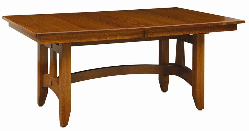 Amish Wolf Hollow Mission Trestle Dining Room Table | Dining room ...