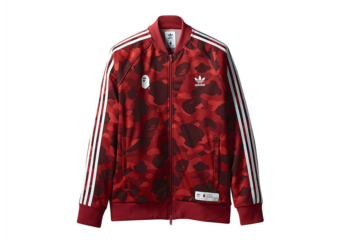 BAPE x adidas adicolor Track Top Raw Red | Bape jacket
