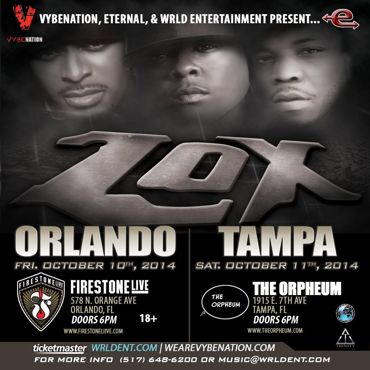 Catch The Lox live in Orlando & Tampa, part of the Trinity