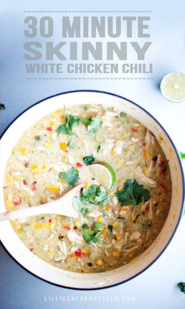 Skinny White Chicken Chili - Lillie Eats and Tells