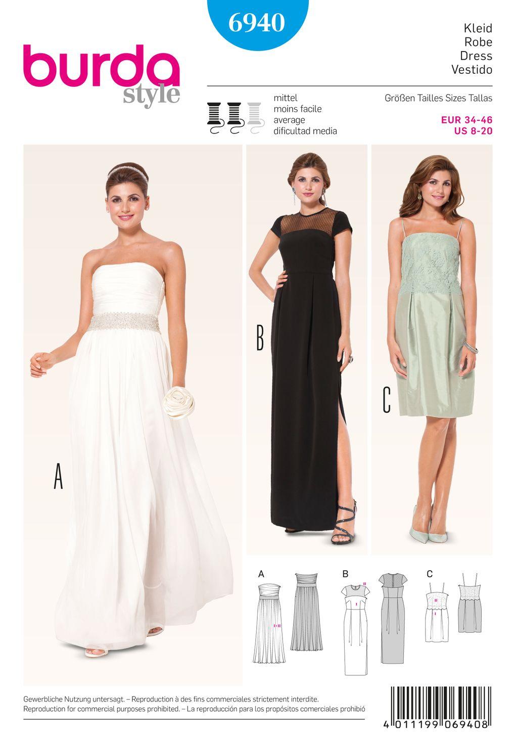 Schnittmuster Kleid F/S 15 #15A  Schnittmuster abendkleid