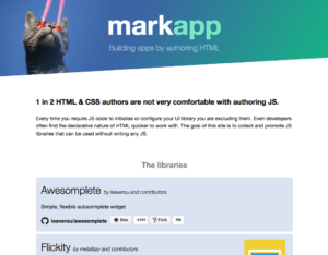 Markapp: A list of HTML libraries