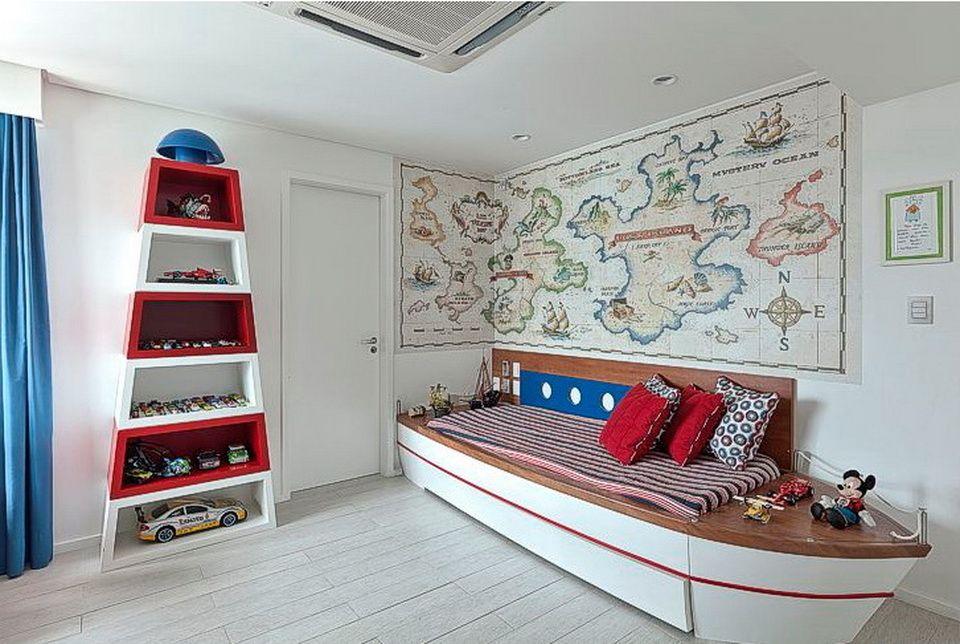 Cama barco carlis pinterest camas piratas y for Decoracion barcos interiores