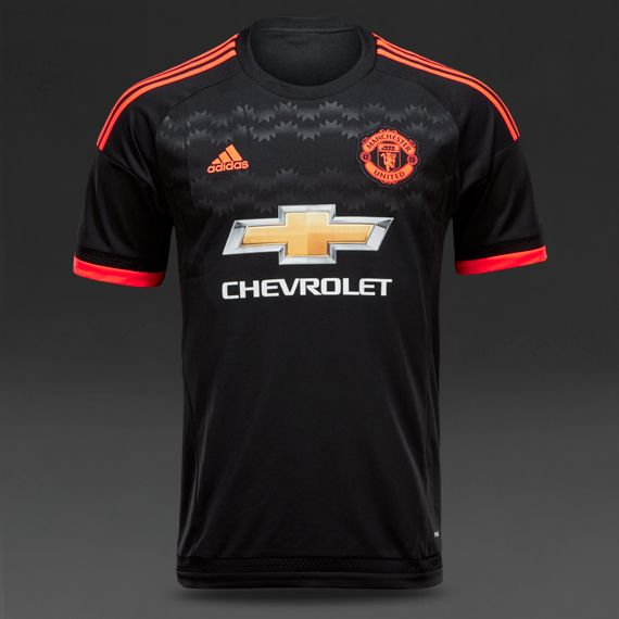 Soccer Jerseys Adidas Manchester United 15 16 3rd Jersey Replica Apparel Black Solar Red White