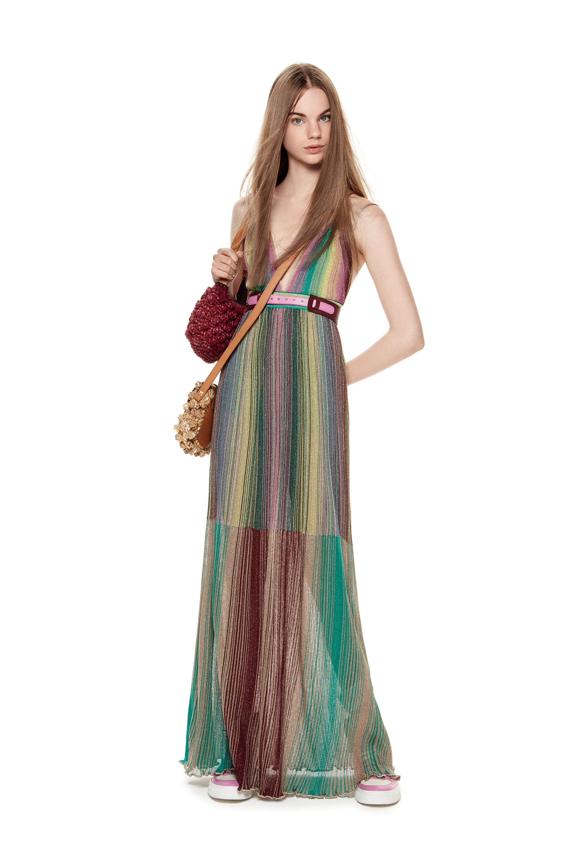 cd083b3dd M-Missoni - PLISSE LUREX MAXI DRESS | Missoni in 2019 | Fashion ...