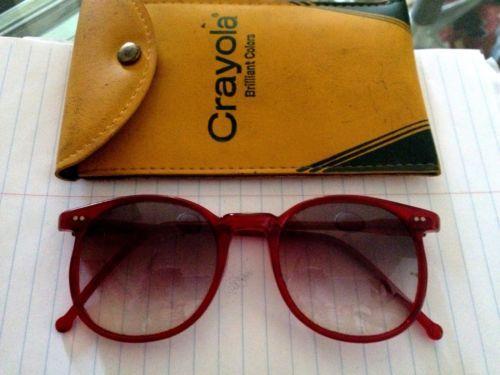 Vintage Sanford Hutton Colors In Optics Red Frame