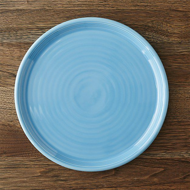 Shop Set of 4 Farmhouse Blue Dinner Plates. Ribbed with the look of hand-thrown pottery this set of four blue dinner plates enhances everyday meals with a ... & Set of 4 Farmhouse Blue Dinner Plates | Hand thrown pottery Blue ...
