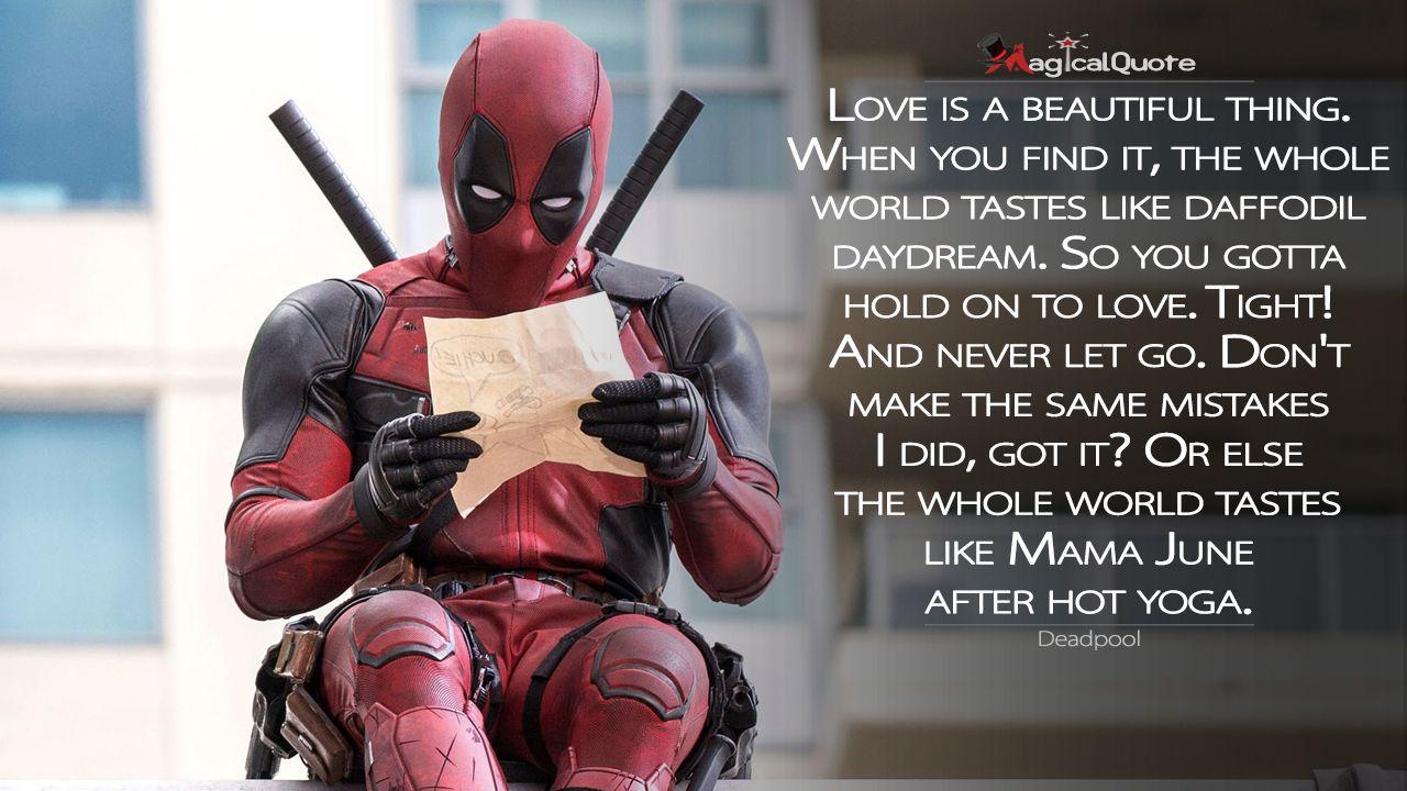 Deadpool Quotes Magicalquote Deadpool Movie Deadpool Quotes Deadpool