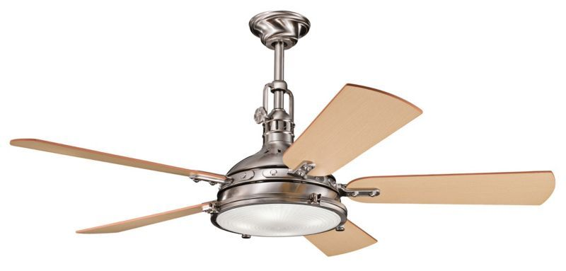 "Kichler Hatteras Bay Ceiling Fan - 56"" Stainless Steel -"
