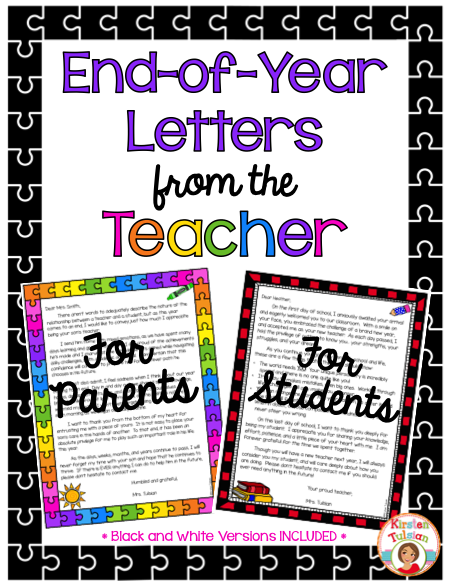 end of the year letter to parents from end of year letters from the a well summer 22349