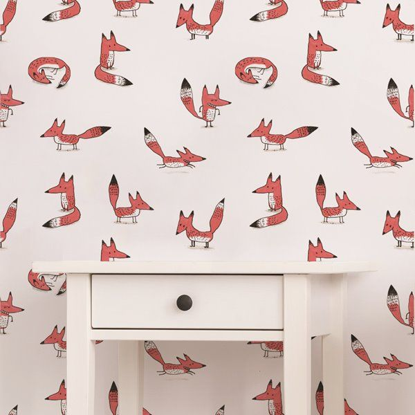 Adzif Foxes 8 Sq Ft Pink Adhesive Wallpaper Km103 Rona Wallpaper And Tiles Colorful Decor Wallpaper