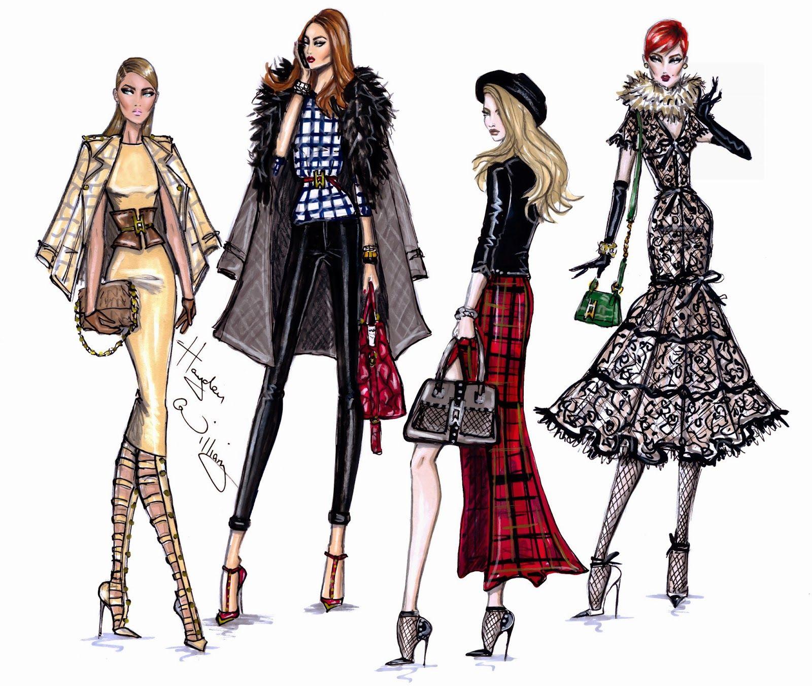 Fashion sketches new fashion sketches - Hayden Williams Fashion Illustrations Fashion Week Style By Hayden Williams