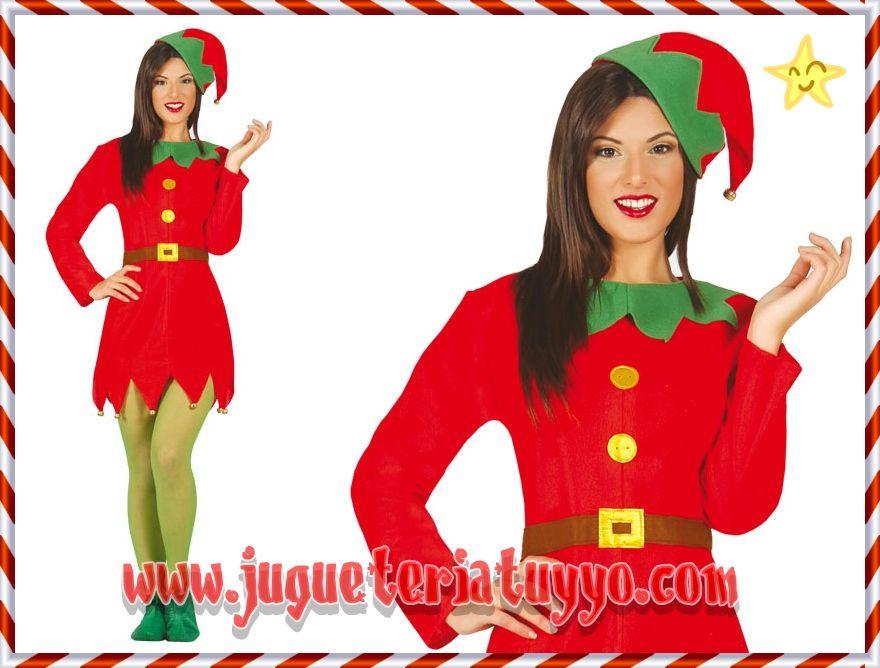 Comprar disfraz elfa happy talla 42 44 a disfraces - Disfraces duendes navidenos ...