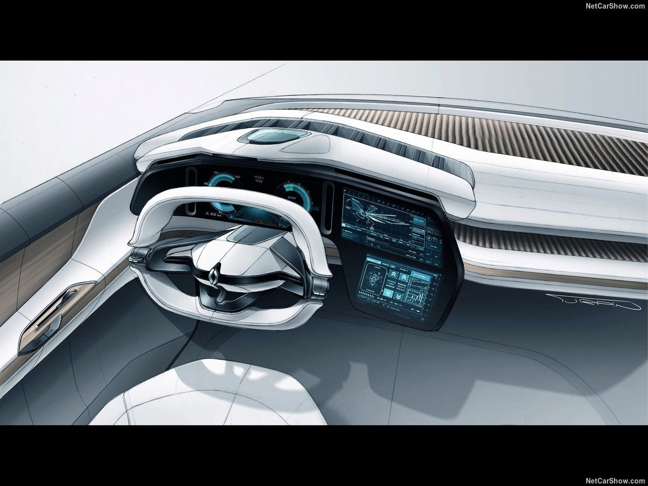 Renault concept Symbioz, interieur design GUI 2017 | car interior ...