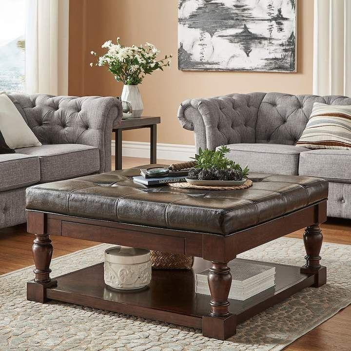 Homevance HomeVance Tufted Storage Coffee Table