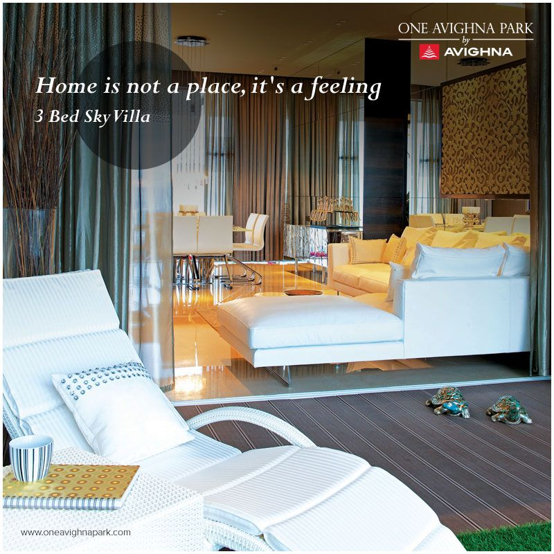 Make your Sunday's more cozy by easing out to the coolness of zesty sky-decks.   #OneAvighnaPark #comfort #3BedSkyVilla #SkyDeck