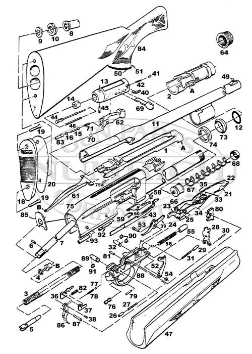 Remington Model 870 Schematic