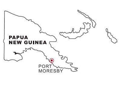 LAMINAS PARA COLOREAR - COLORING PAGES: Mapa y Bandera de Papúa ...