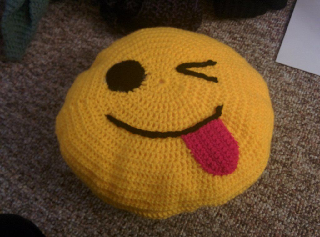 Crochet Emoji Pillow Pattern
