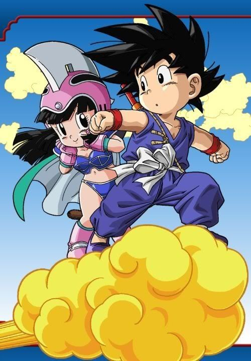 Dbz Chichi And Goku Young Anime Dragon Ball Goku Dragon Ball Z