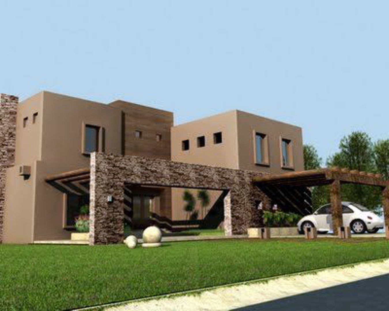 Casa moderna architecture design pinterest casas for Casas modernas acogedoras