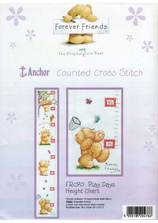 Play Days Growth Chart W Chart Not All Of The Detail Chart Is Included But Follow Colored Photo Play Day Cross Stitch Cute Cross Stitch
