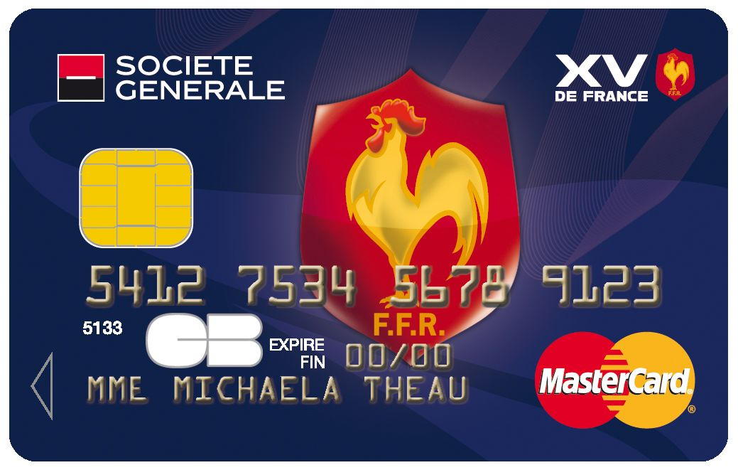 Carte Mastercard Societegenerale Xvdefrance Rugby Rugby
