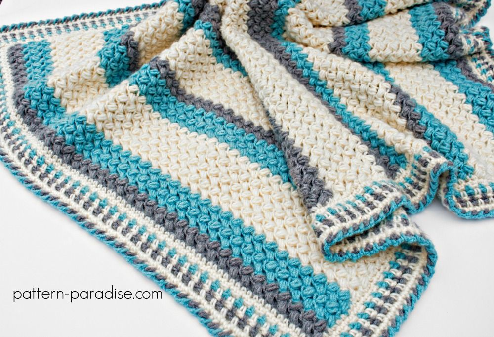 Free Crochet Pattern For Pillow Soft Baby Blanket Afghan Throw By