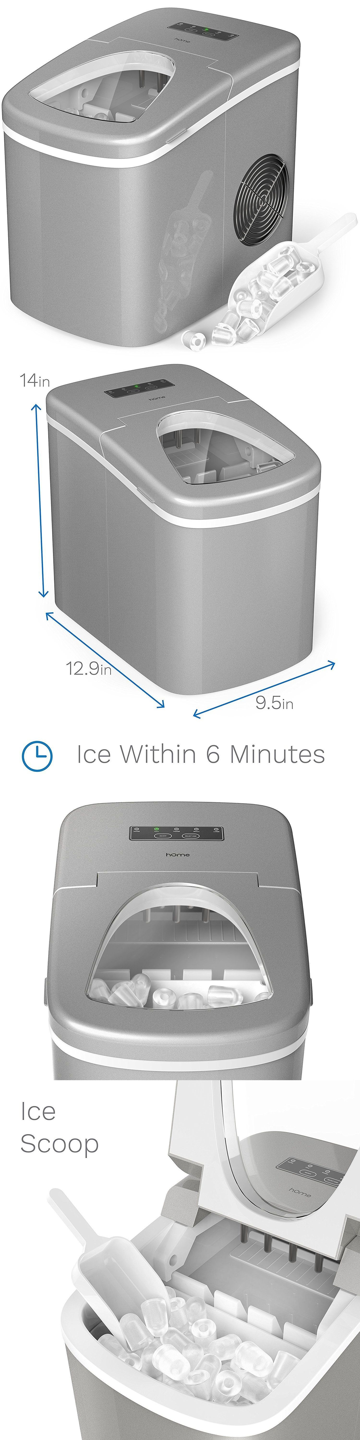 Countertop Ice Makers 122929 Home Portable Countertop Electric Ice Maker Machine W Ice Scoop Silver Buy It Now On Ice Maker Machine Ice Maker Countertops