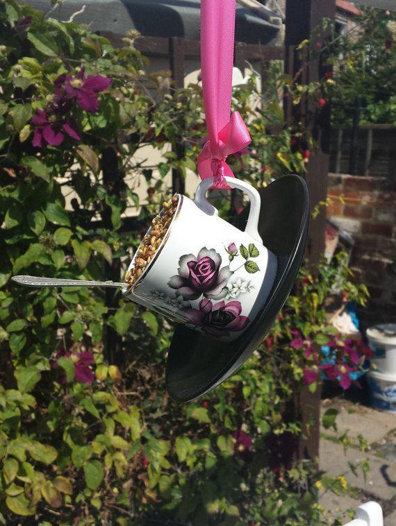 Tea Cup Bird Feeder With Spoon Perch, Quirky Garden Gift, China Bird  Feeder, Garden Ornament, Bird Lovers Gift, Garden Decor, Gifts For Her