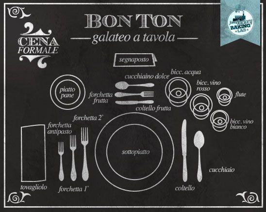 Bon ton a tavola come apparecchiare la tavola in modo formale informale table setting - Apparecchiare la tavola bicchieri ...