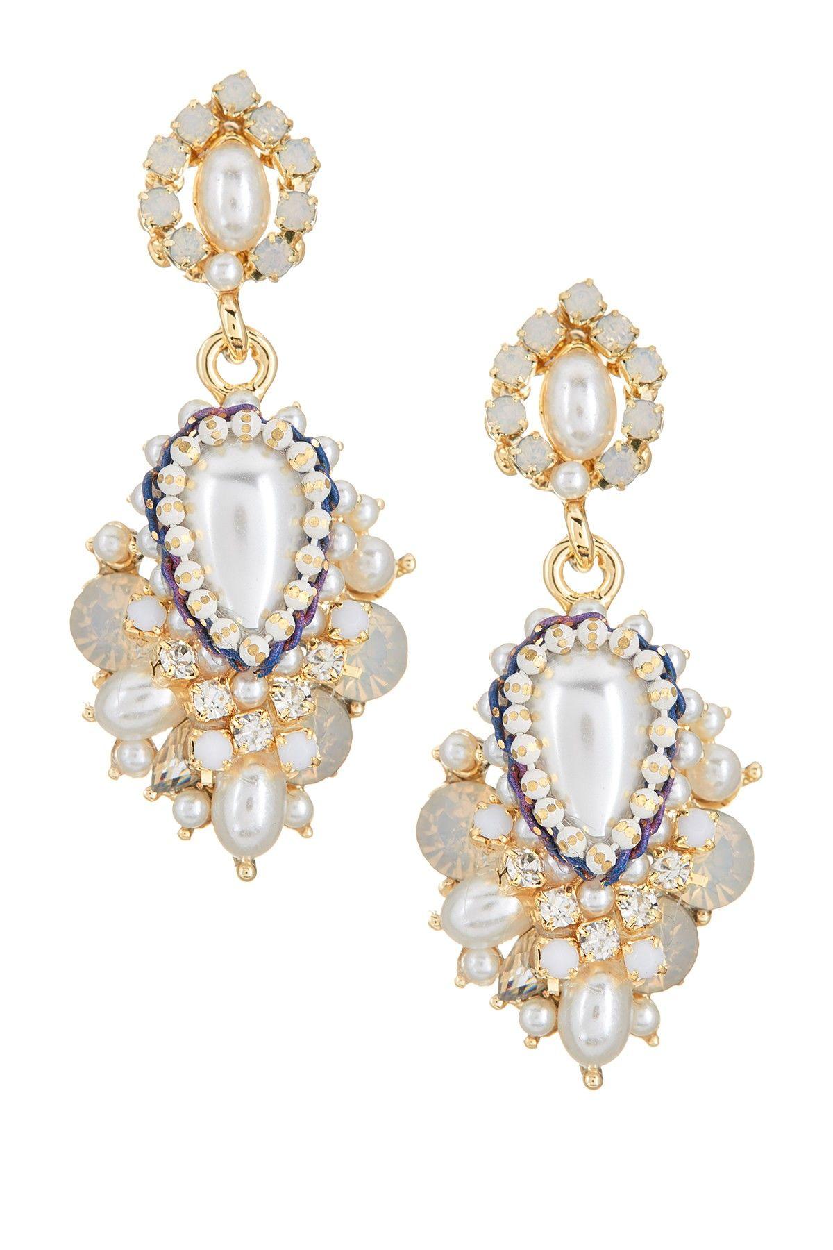 Prudence c crystal pearl double drop earrings drop earrings prudence c crystal pearl double drop earrings arubaitofo Choice Image
