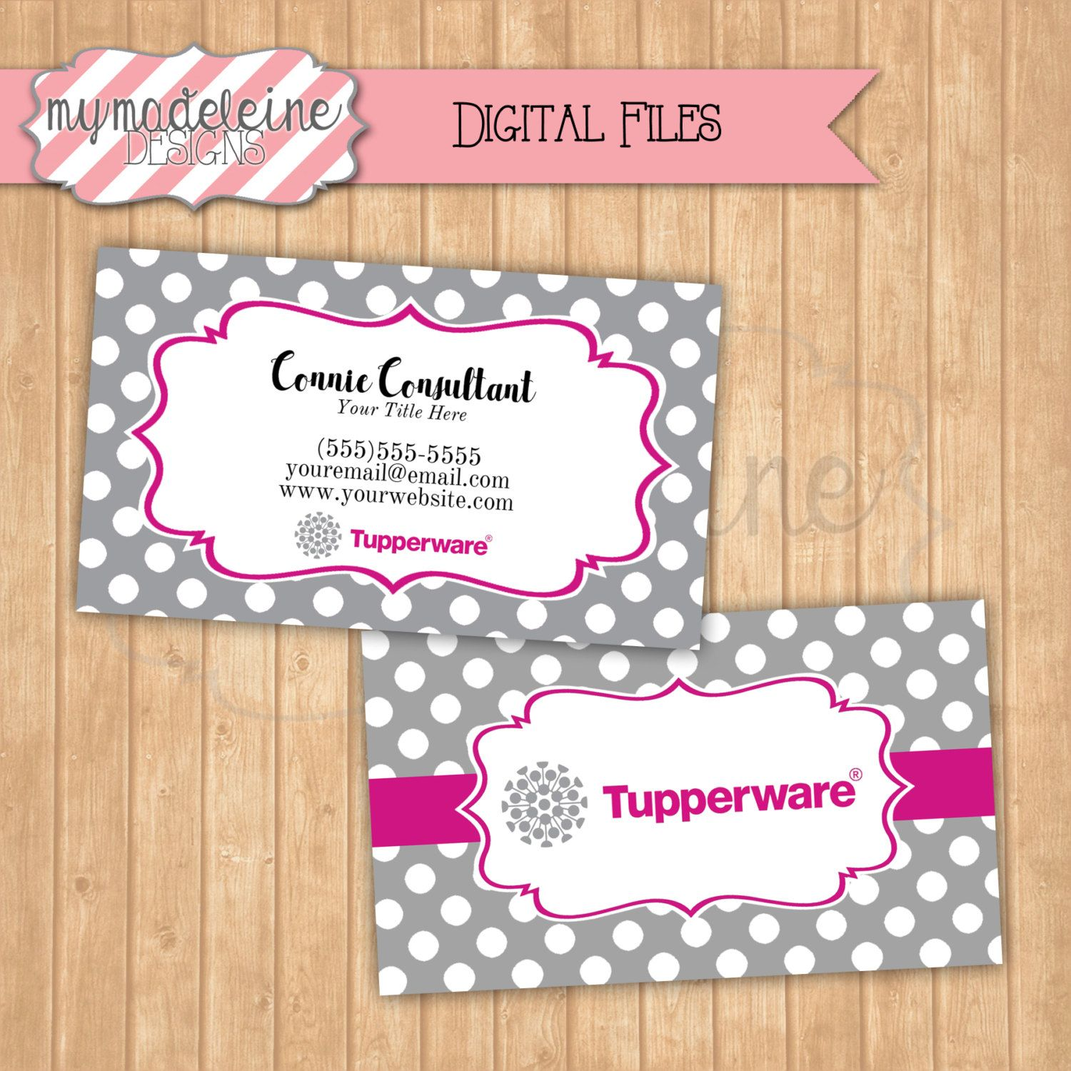 tupperware business card digital file direct sales business marketing by mymadeleine on etsy tupperware mymadeleinedesigns - Tupperware Business Cards