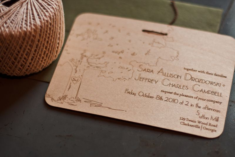 17 Best images about Invitations – Wood Invitations Wedding