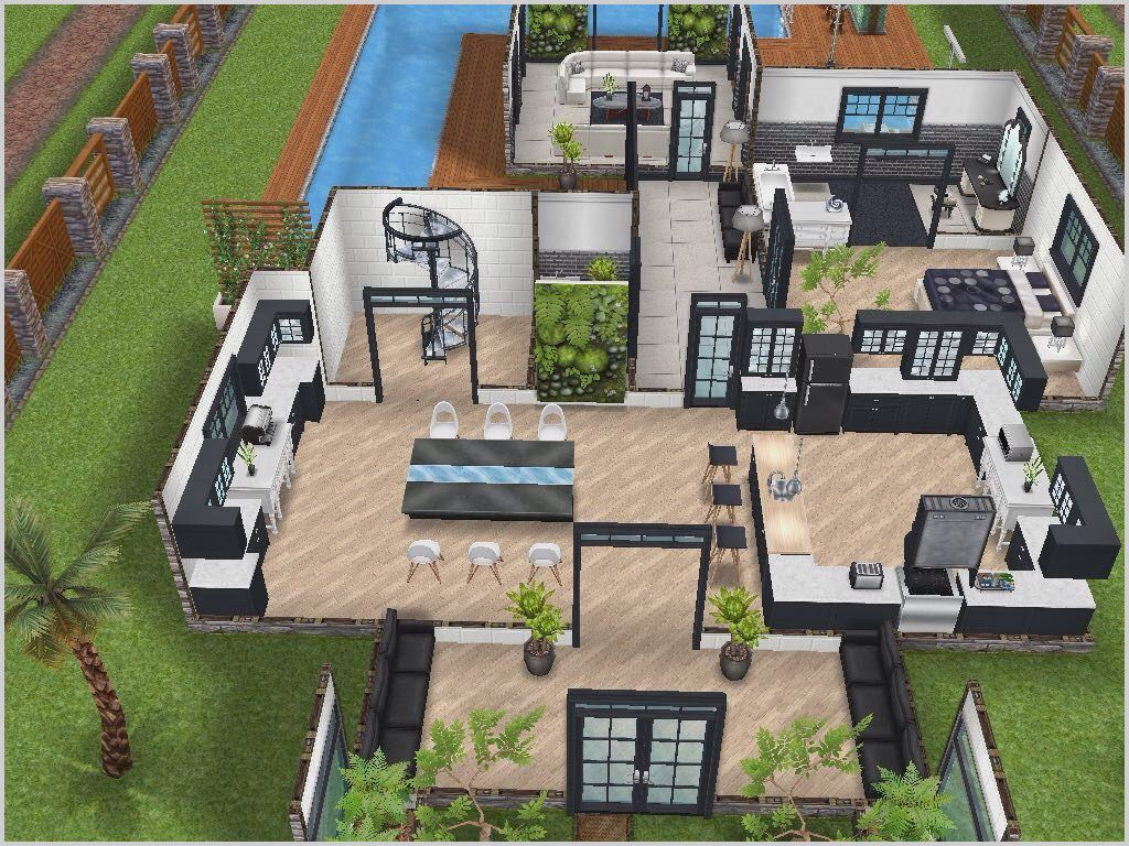 Small 3 Bedroom House Sims 3 In 2020 Sims House Plans Sims Freeplay Houses Sims House