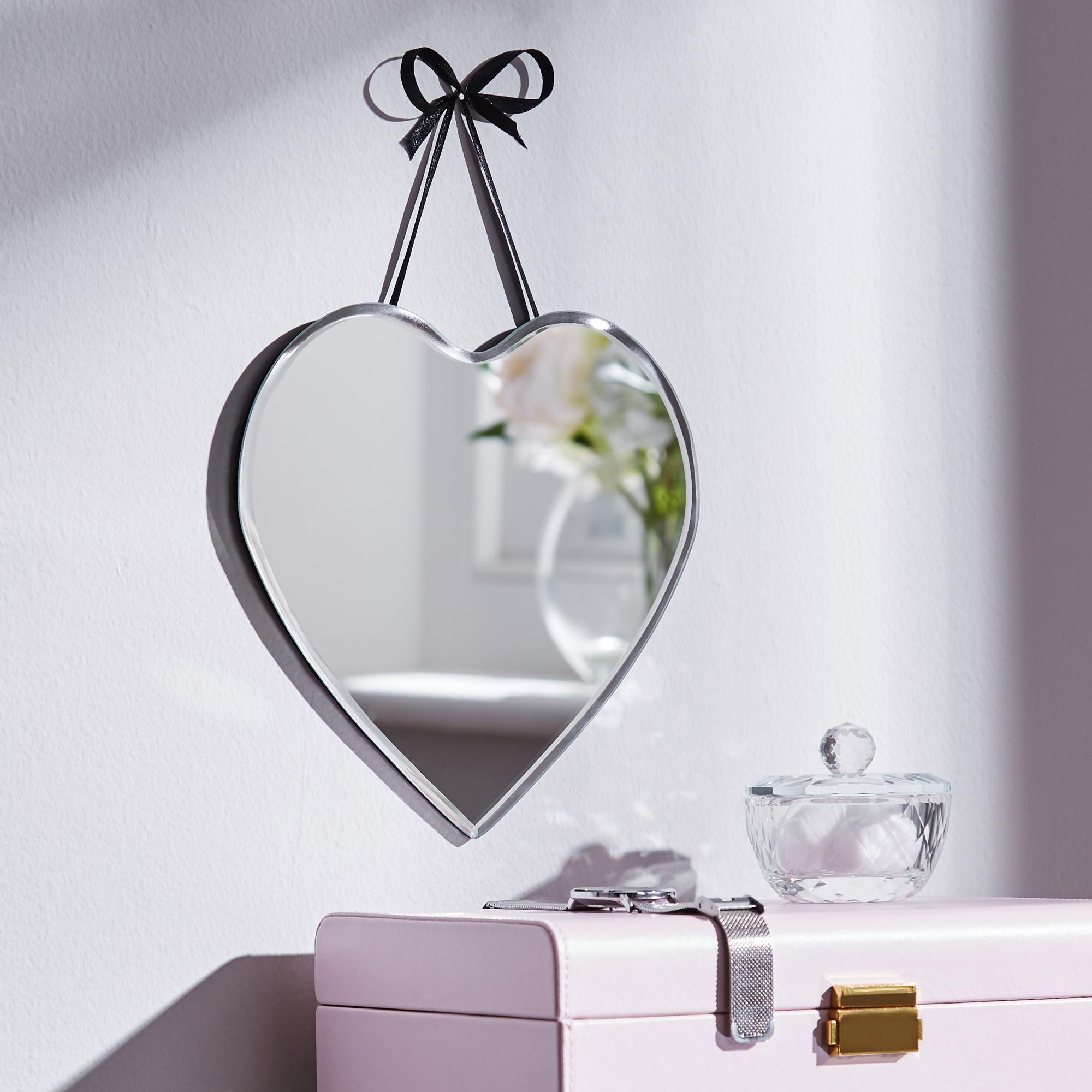 Mirror Heart Plaque In 2020 Mirror Wall Art Home Decor