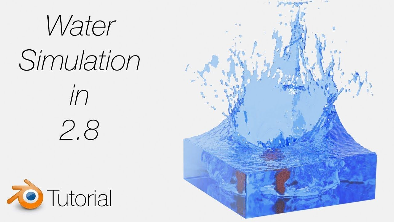 Quick Water Simulation Tutorial in Blender 2.8 | 특수효과 </div>