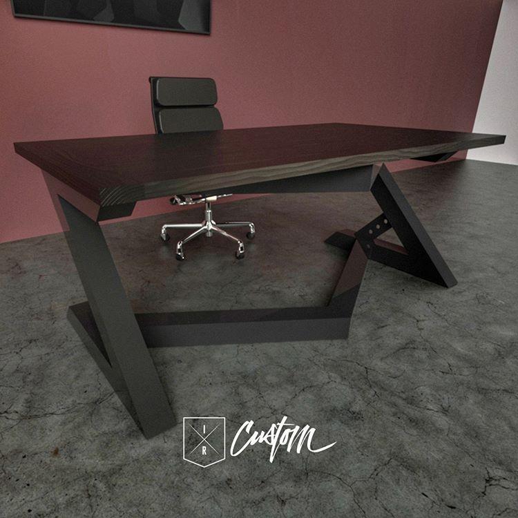 Stealth Desk Black Black This Desk Looks Like It S Moving Industrialreclaim Com Metal Furniture Furniture Design Desk Modern Design