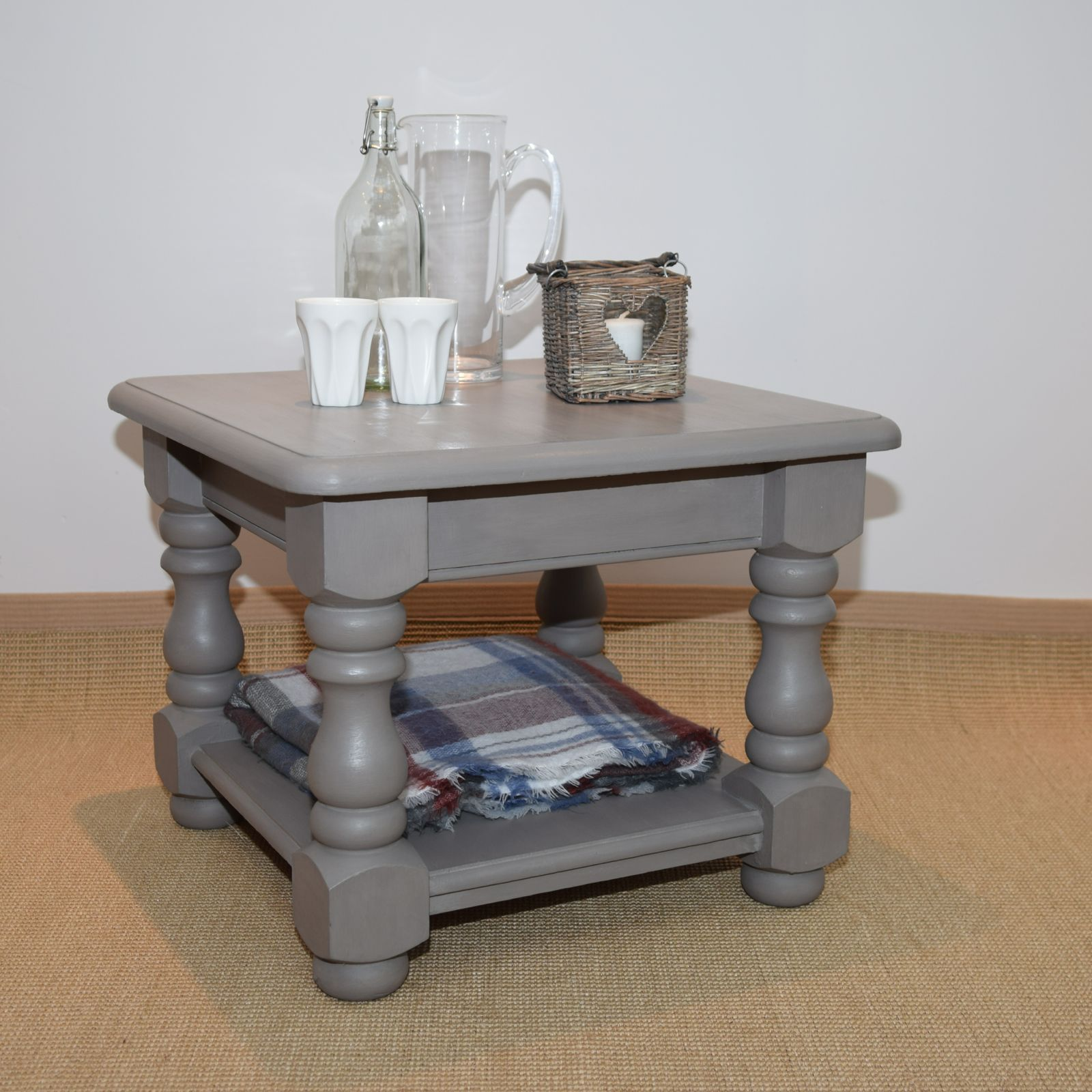 Solid pine small coffee table painted in Annie Sloan s French