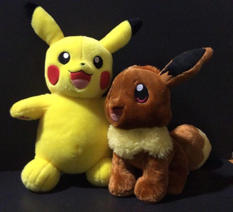 $100 Build a Bear Plush - Pokemon Pikachu And Eevee (Original